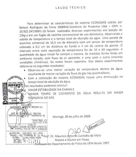 Econogas - Economizador De Gas Glp - Original C/ Garantia.