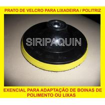 Disco De Borracha Com Velcro 7pol Para Politriz, Lixadeira,