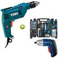 Kit Furadeira+ferramentas 125pçs+ Parafusadeira Frete Gratis