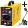 Maq Solda Tig/eletrol 240 V8 220v Inox+ Máscara+ Brinde+1ano