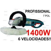 Politriz Profissional Automotiva 1400w - 7 Pol - 180mm