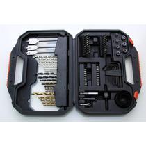 Kit Acessórios Com 100 Peças Furadeira Black Decker + Maleta