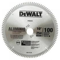Disco Serra Circular P/ Aluminio 10 254mm 100dentes Dewalt