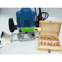 Tupia Coluna - Pinça 8mm E 6mm + Kit 12 Fresas 6mm - 220 V