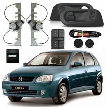 Kit Vidro Eletrico Traseiro Corsa Novo Sedan E Hatch Complet