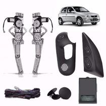 Kit Vidro Eletrico Corsa Wind 2p Sensor E Trava 2 Portas