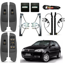 Kit Vidro Eletrico Completo Palio Fire Way 2014 15 16 4porta