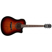Violão Fender Tbucket 300ce Sb Flamed Na Cheiro De Música !!