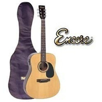 Violão Elétrico Acustico Italiano Encore Ea255 Cordas Em Aço