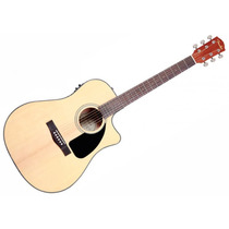 Violão Elétrico Fender Cd-60ce Natural Cd60 Ce C/ Case!