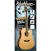 Violão Washburn Wd10ce Acoustic Guitar Pack