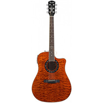 Violao Fender T-bucket 300 Ce - Amber Quilt - Wood Music