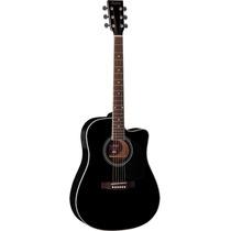 Hofma Ye220 Violão Folk Aço Cutway : Black - Frete Grátis