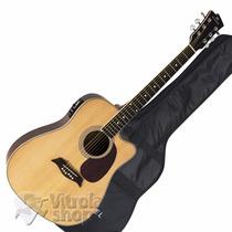 Violão Folk Aço Elétrico Michael Vm921dtc St Loja Nota
