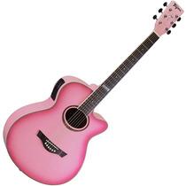 Violão Tagima Dallas Tuner Pink Com Afinador Digital