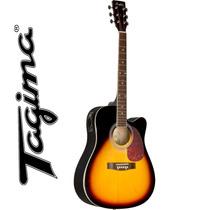 Violão Eletroacústico Folk Aço New Md18 Sunburst Memphis By