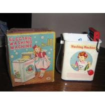 Brinquedo Antigo Máquina De Lavar De Latinha Déc.50 Na Caixa