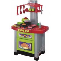 Cozinha Eletrônica Infantil Brinquedo Fogão 29 Acessórios