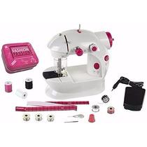 Brinquedo Máquina De Costura Infantil Rosa Funciona Verdade