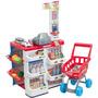 Super Mercado Infantil Kit Feira Carrinho Compras Brinquedo