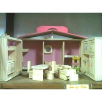 Casa Boneca Brinquedo Maleta Madeira Artesanal Peppa-pronta