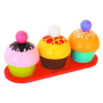 Comidinhas, Cupcakes - Brinquedo De Madeira