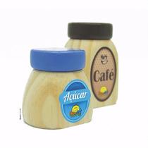 Comidinhas, Café E Açucar - Brinquedo De Madeira