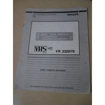 Manual Instruções Vídeo Cassete Recorder Philips Vr 3320/78
