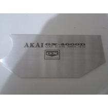 Placa Frontal Tampa Dos Cabeçotes Akai Gx4000d