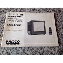 Manual Do Proprietário Da Tv Philco Ultravision 2160 U St
