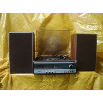 Conjunto De Som 2 X 1 Philips Hi-fi - Mod-853 - Vinil+radio.