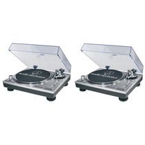 Par Vitrola Toca Discos Audio Technica At-lp120 Usb Dj