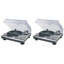 Par Vitrola Toca Discos Audio Technica At-lp120 Usb Dj