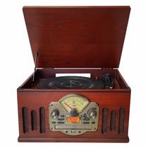 Vitrola Toca Discos De Vinil Retro Grava Cd/ Fm /usb(989228)