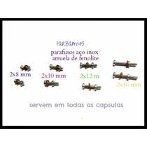 4 Conj Parafuso Aço Inox 2mm Para Capsula Shell Hedshell