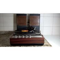 Vitrola Philips 143 Amplificada C/caixas Vintage Toca Discos