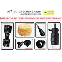 Kit Motor Bomba Palha Sensor Climatizador Caminhão 12 24 Vts
