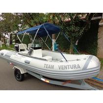 Barco Inflavel Sr 15 Slx+ E-tec 60 Hp 2010+apoio Ao Turismo