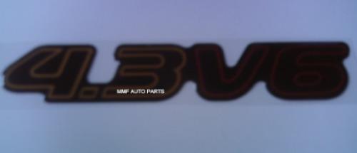 Emblema Resinado 4.3 V6 Blazer/s-10 2000 - Mmf Auto Parts