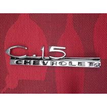 C15 - Emblema Do Paralamas Dianteiro Da Camionete Chevrolet