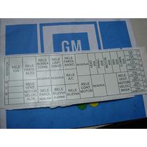 Emblema Etiqueta Adesivo Ori Gm Caixa De Fusivel Omega 99/02