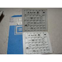 Emblema Etiqueta Adesivo Orig Gm Caixa De Fusivel S10