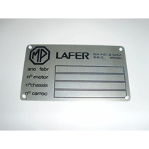 Emblema Cofre Motor Mp Lafer Tarjeta Plaqueta Chassis
