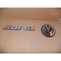 Kit 3 Emblema Gol Cl Ou Gl 91 A 94 + Símbolo Vw Da Mala