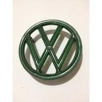 Emblema Verde Acessório De Época P/ Fusca Novo