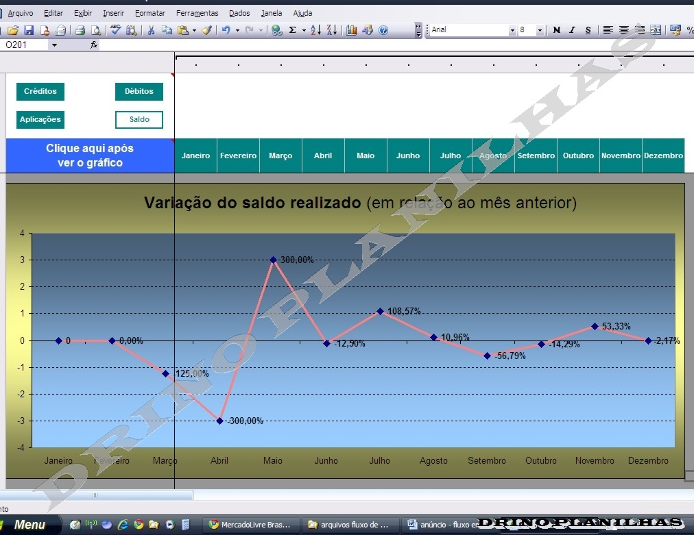 Empresarial  Fluxo De Caixa Planilha Planejamento Financeiro