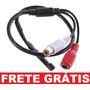 Microfone Amplificado Para Cftv Alcance 40m Frete Grátis