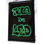 Painel Lousa Quadro Led Board 60 X 40 + 3 Canetas + Fonte Fg