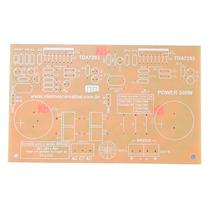 Placa Para Montar Amplificador De Até 200w Stéreo Ou Em Pont