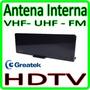 Antena Interna E Externa - Vhf - Uhf - Hdtv * Lançamento *